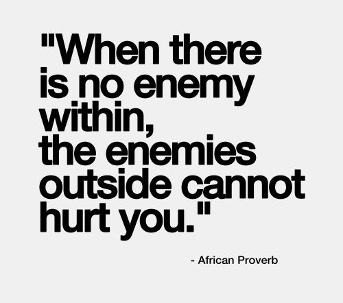 There is no enemy